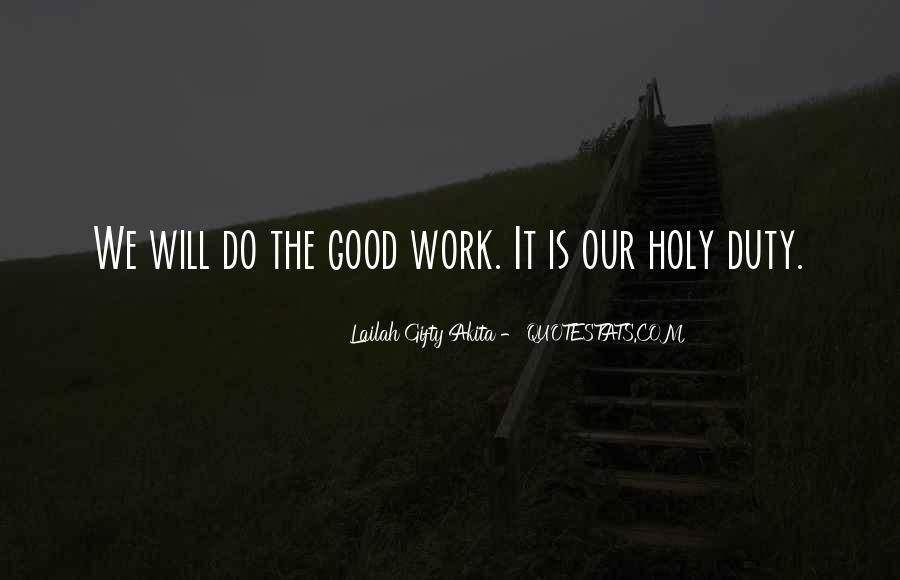 Do Good Work Quotes #27174