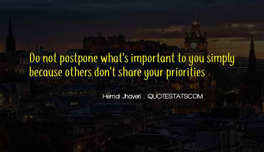 Do Not Postpone Quotes #316660
