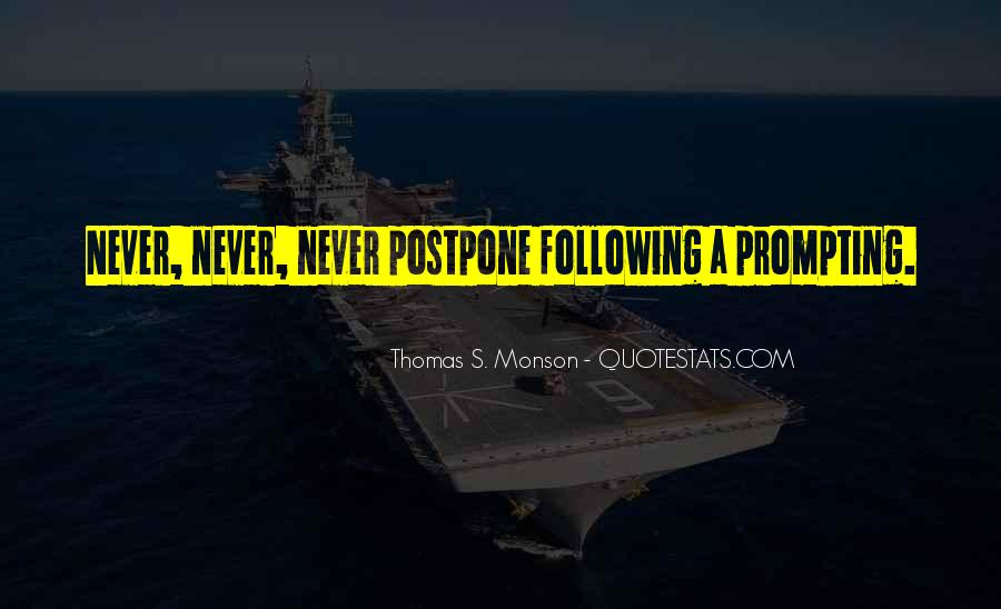 Do Not Postpone Quotes #458396
