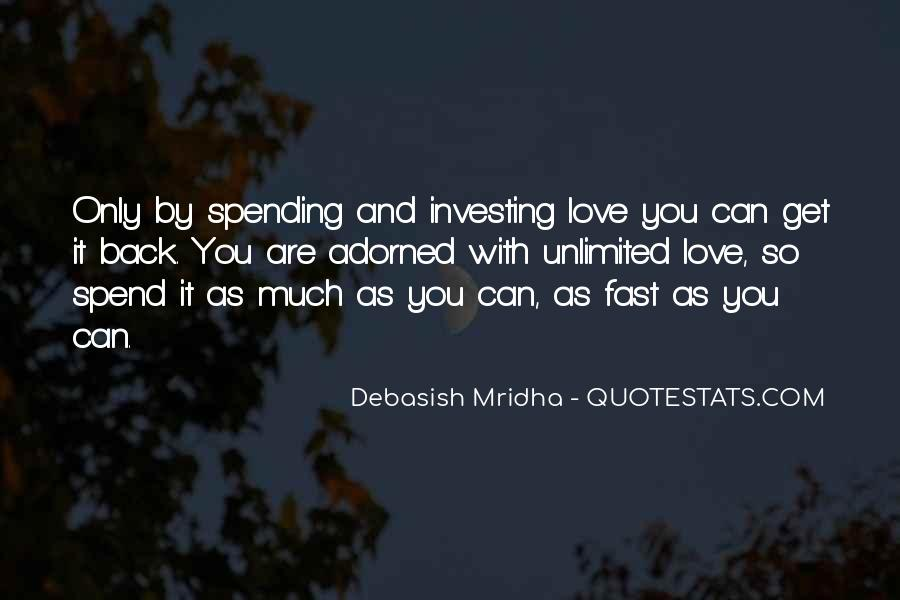 Quotes About Investing In Love #1532467