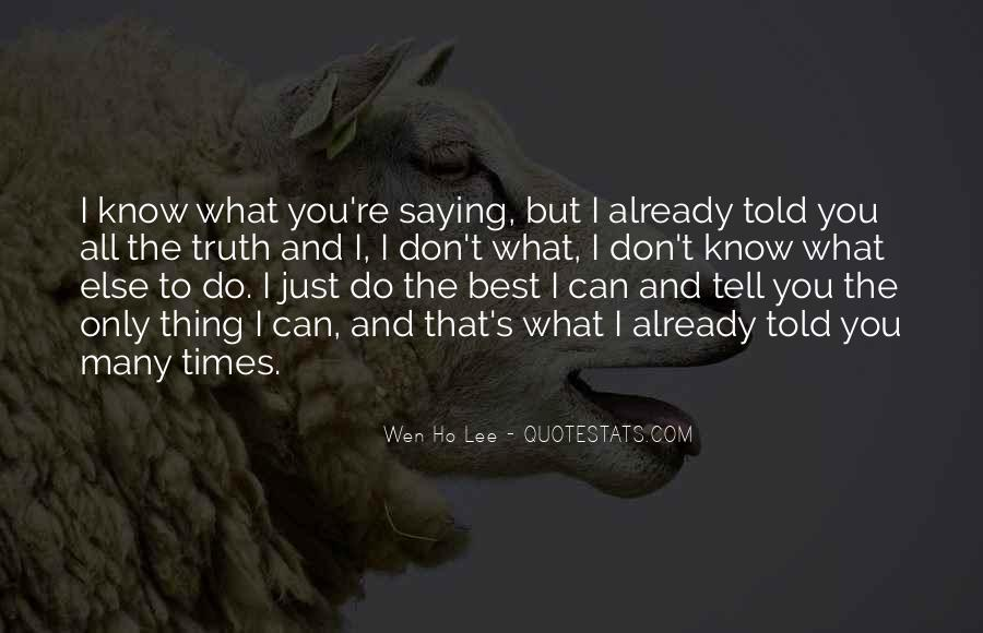 Do What's Best Quotes #123429