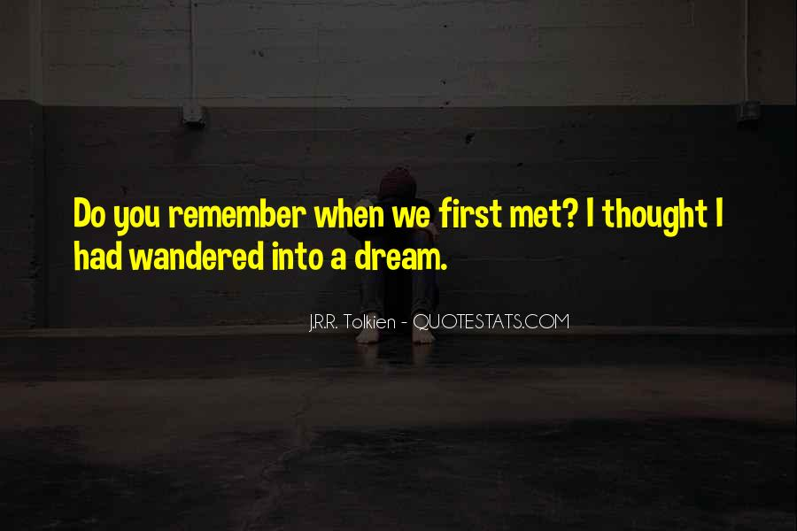 Do You Remember When We First Met Quotes #1342309