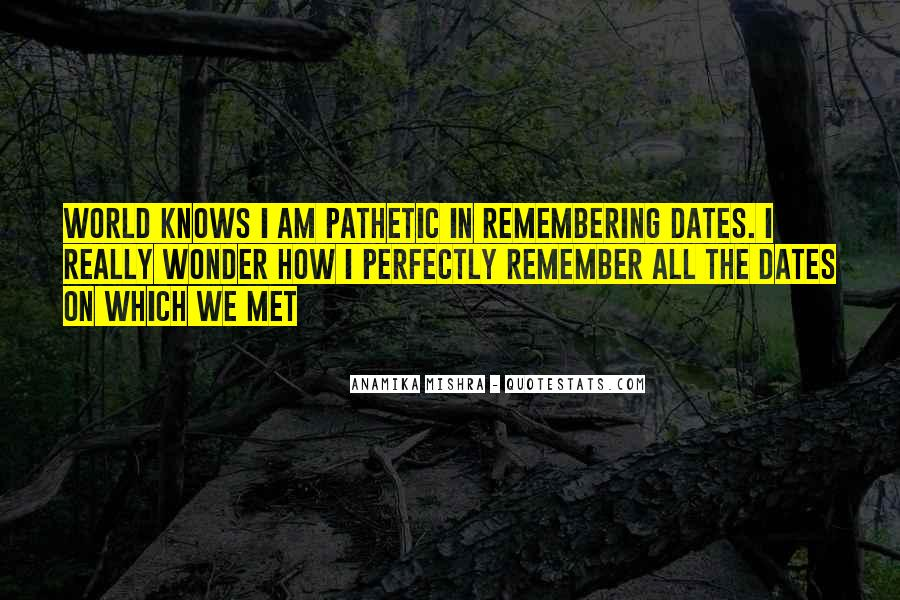 Do You Remember When We First Met Quotes #999393