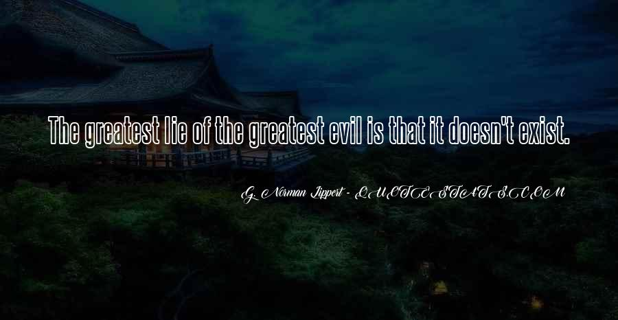 Does Evil Exist Quotes #366892