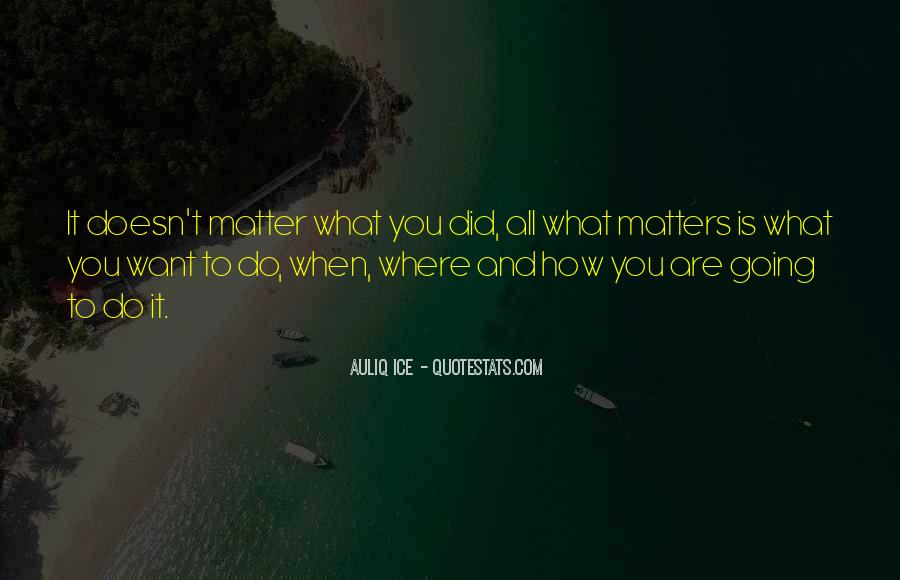 Doesn't Matter What You Do Quotes #605109