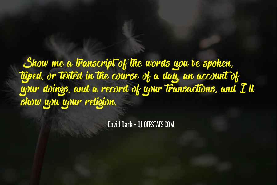 Doings Quotes #47068