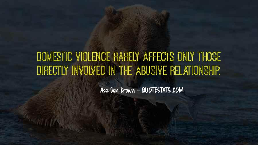 Domestic Violence Abuse Quotes #1189617