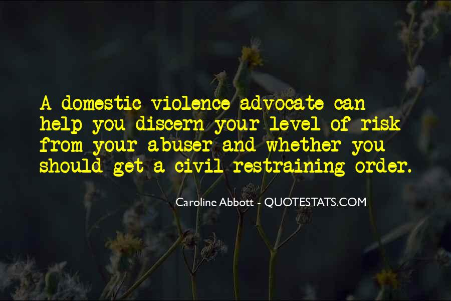 Domestic Violence Abuse Quotes #388027