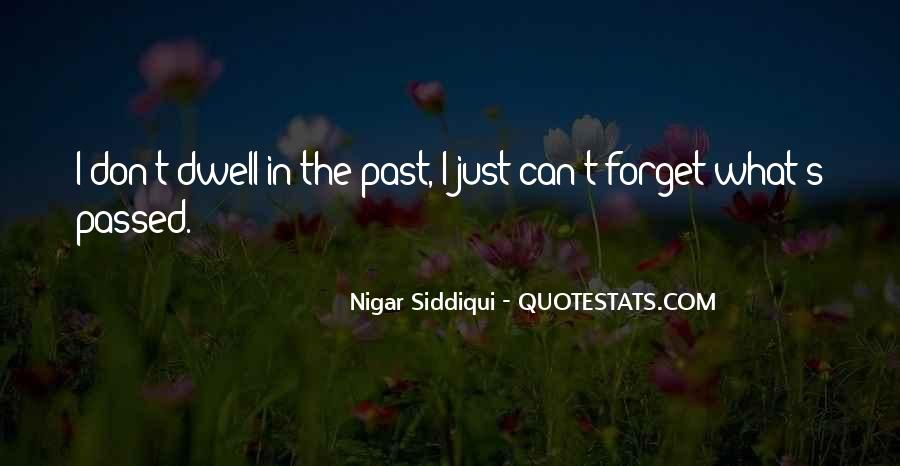 Don Dwell On The Past Quotes #1097672
