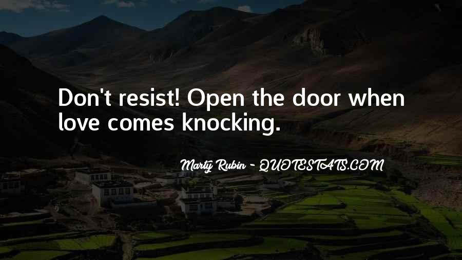 Don't Come Knocking Quotes #1161712