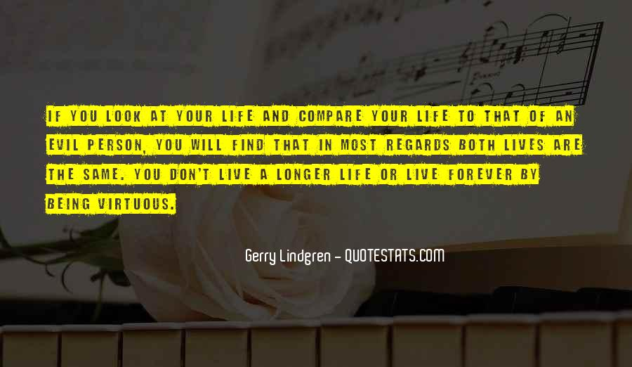 Don't Compare Your Life Quotes #205883