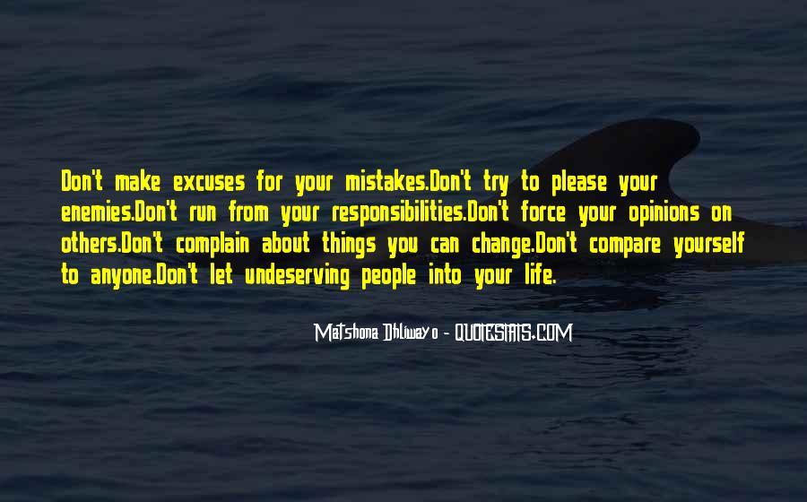 Don't Compare Your Life Quotes #664095