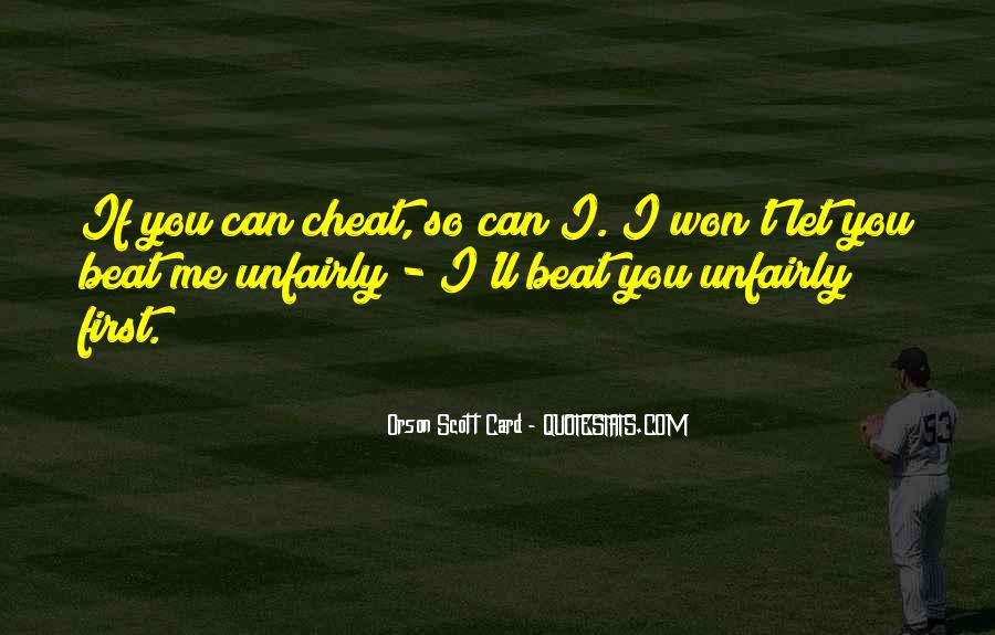 Don't Ever Cheat Quotes #140108