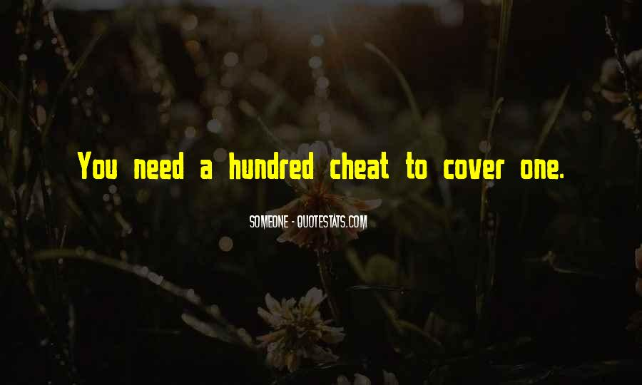 Don't Ever Cheat Quotes #78126
