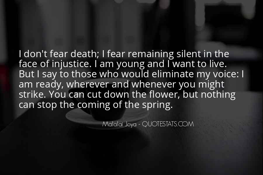 Don't Fear Nothing Quotes #539295