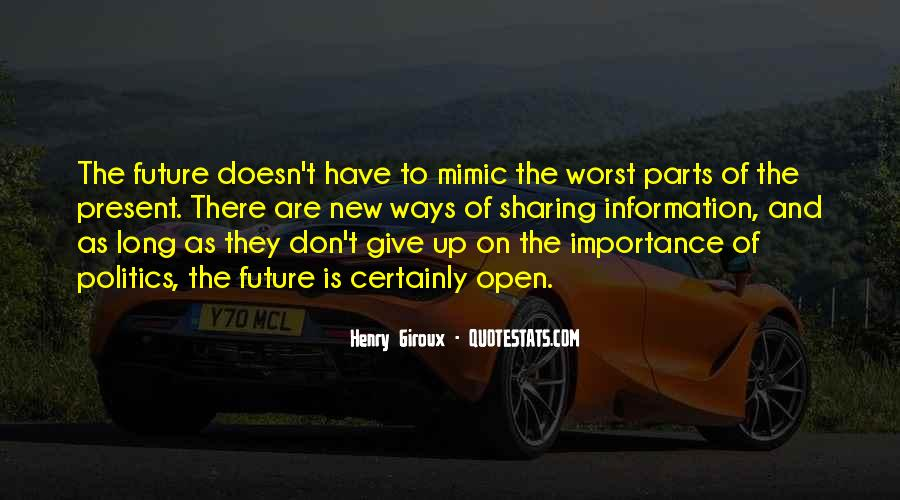 Don't Give So Much Importance Quotes #1420567