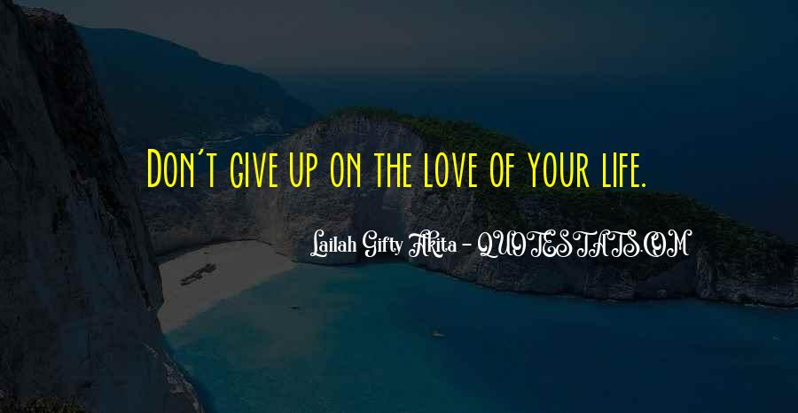 Don't Give Up On Your Love Quotes #533207