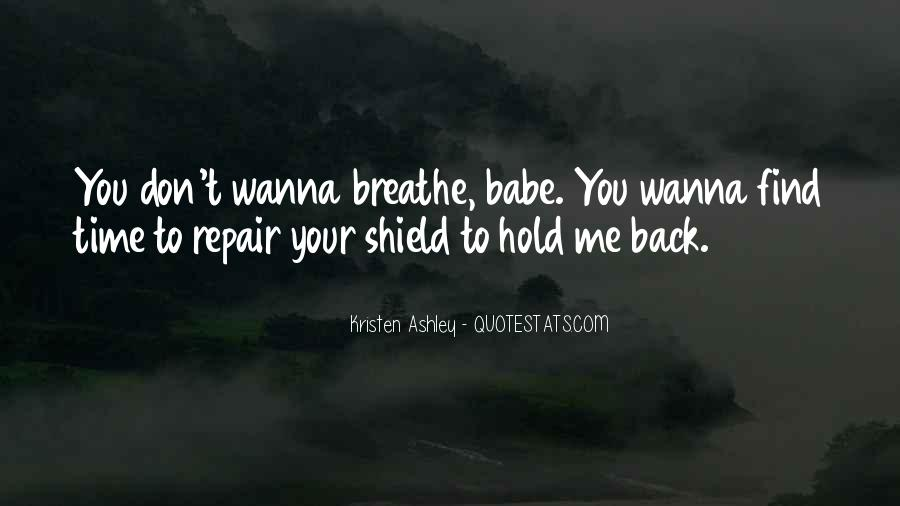 Don't Hold Me Back Quotes #1622663