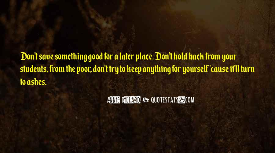 Don't Hold Me Back Quotes #677370