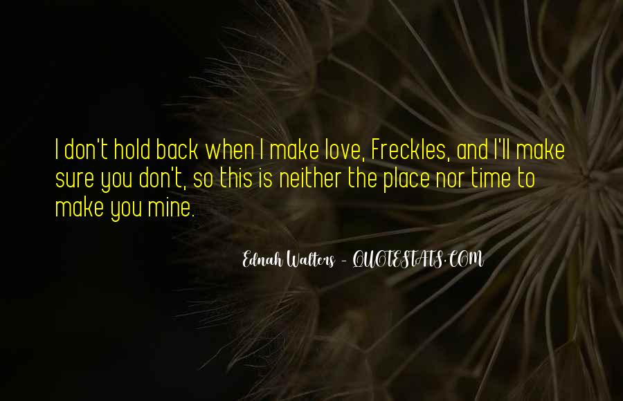 Don't Hold Me Back Quotes #829896