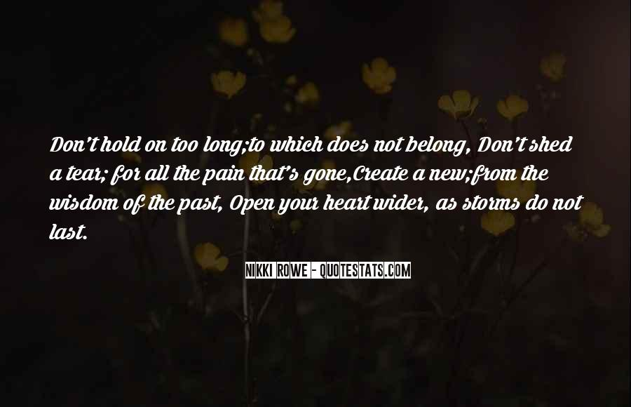 Don't Hold Onto The Past Quotes #66162