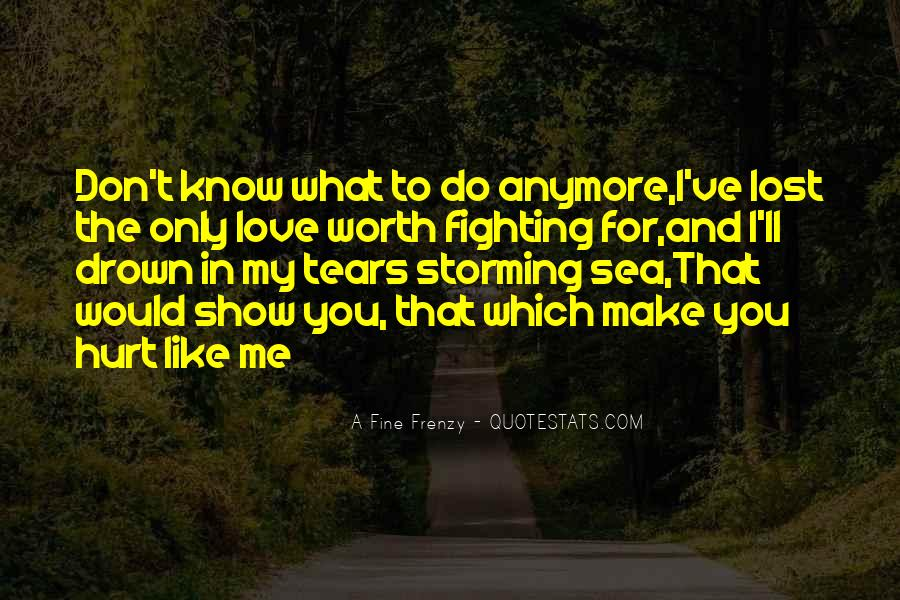 Don't Know What You Lost Quotes #1580079
