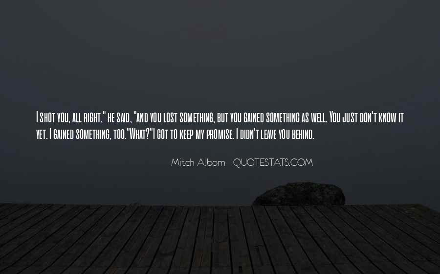 Don't Know What You Lost Quotes #1761134