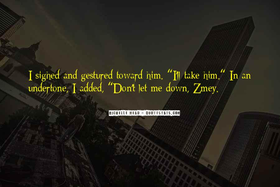 Don't Let Me Down Quotes #702150