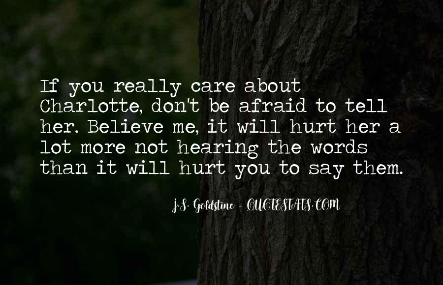 Don't Really Care Quotes #176235