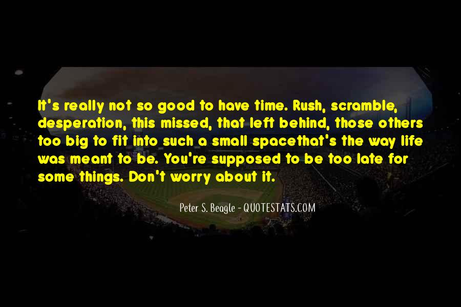 Don't Rush Things Quotes #63019