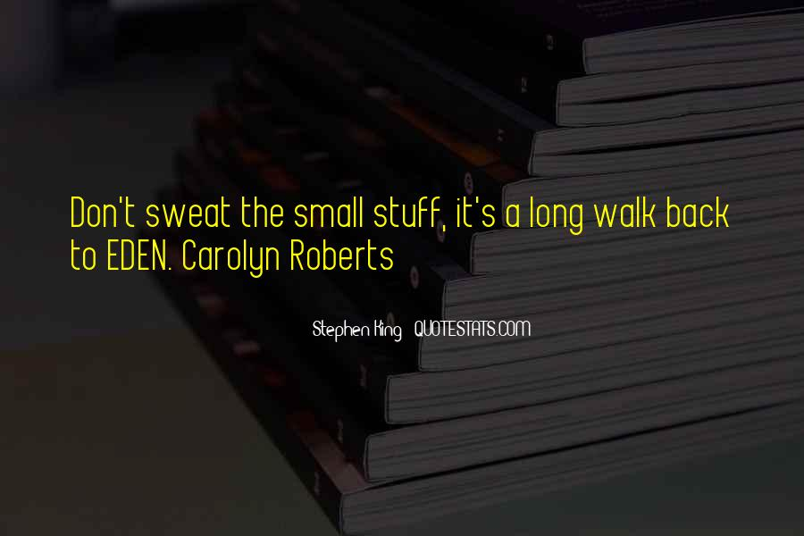 Don't Sweat The Small Things Quotes #1255936
