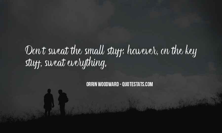 Don't Sweat The Small Things Quotes #1315731