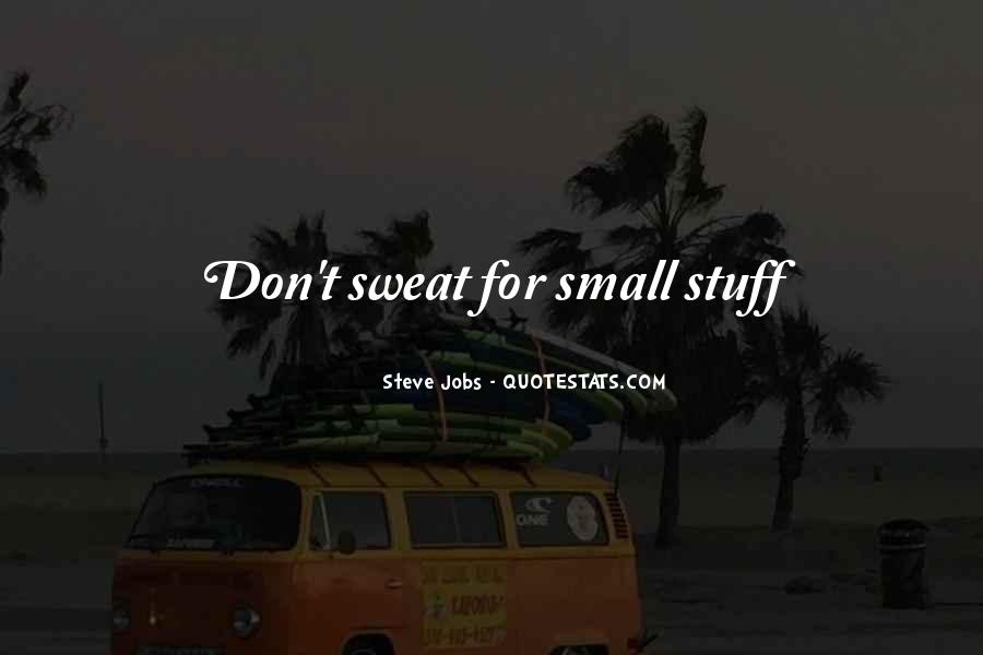 Don't Sweat The Small Things Quotes #1564481