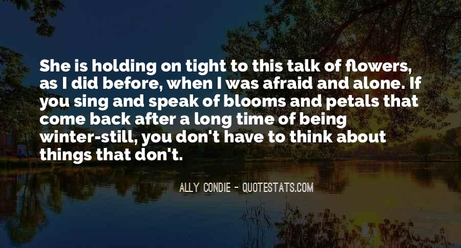 Don't Talk Back Quotes #217058