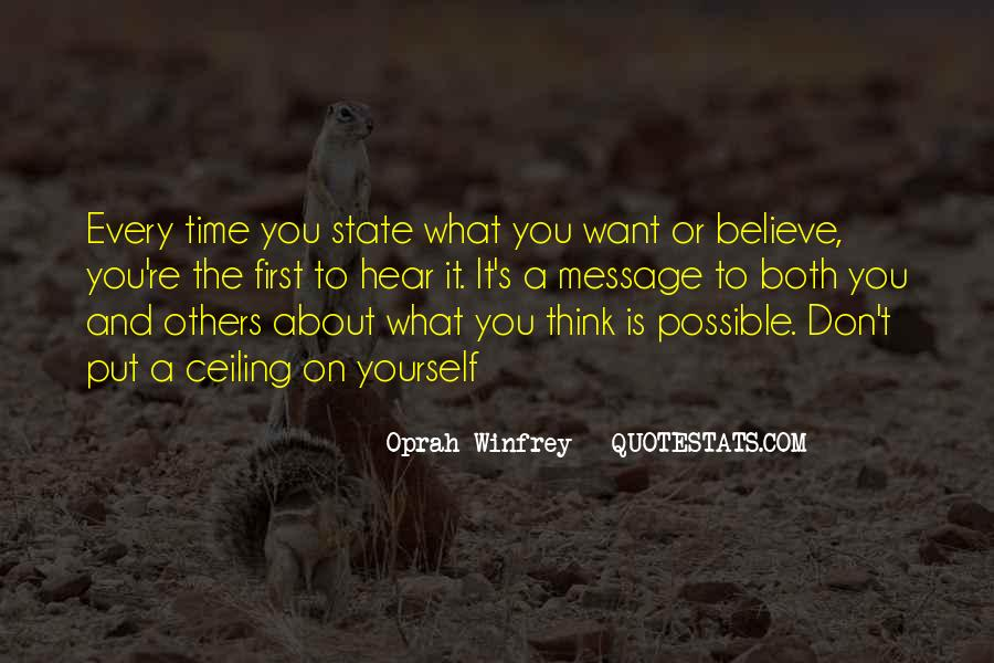 Don't Think About Yourself Quotes #1251835
