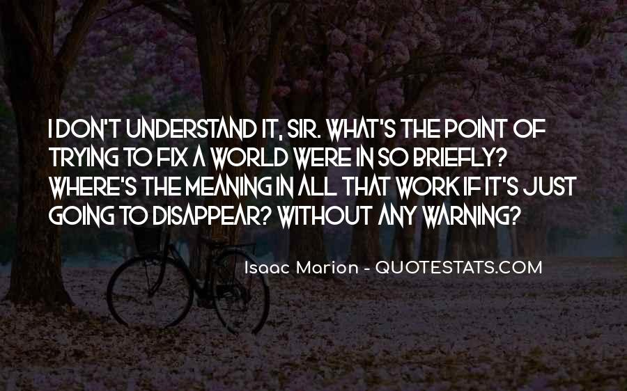 Don't Understand The World Quotes #1073152