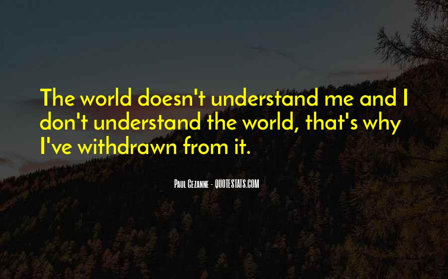 Don't Understand The World Quotes #315909