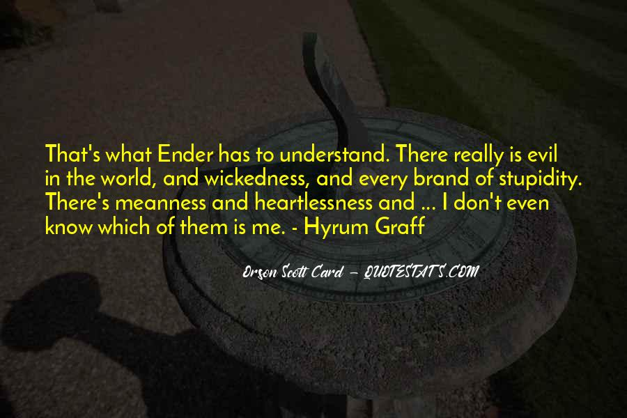 Don't Understand The World Quotes #741491