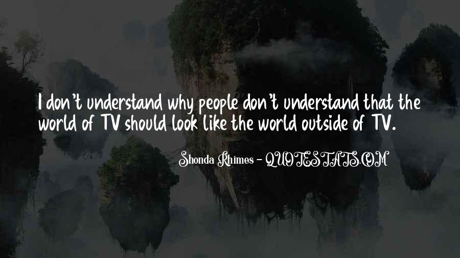 Don't Understand The World Quotes #990762