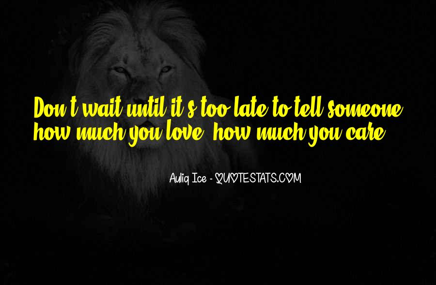 Don't Wait Too Much Quotes #244632