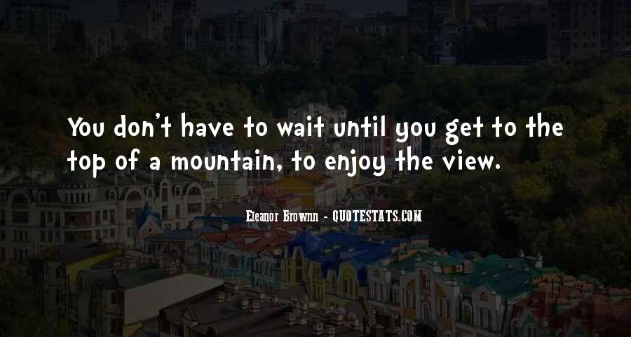Don't Wait Too Much Quotes #46593