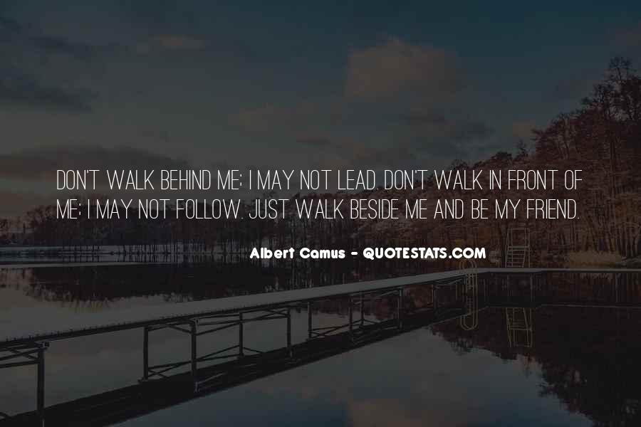 Don't Walk Behind Me I May Not Lead Quotes #614624