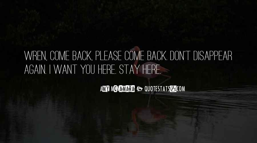 Don't Want You Back Quotes #19096