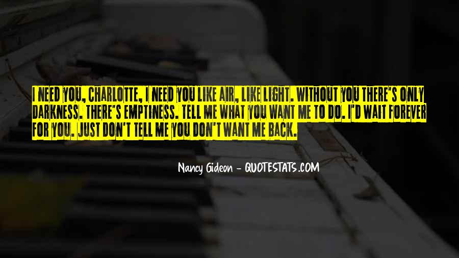 Don't Want You Back Quotes #322681