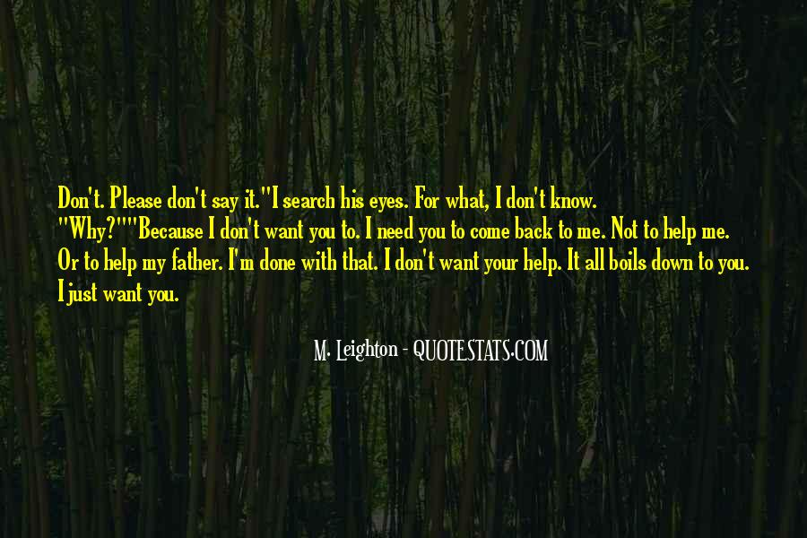 Don't Want You Back Quotes #87735