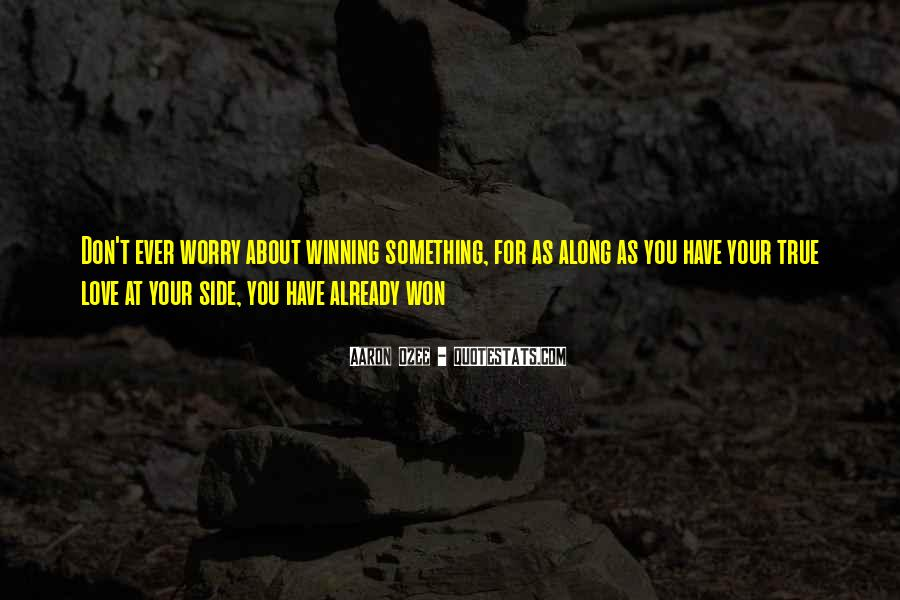 Don't Worry My Love Quotes #984814