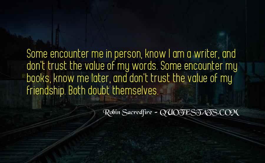 Doubt In Trust Quotes #1000715