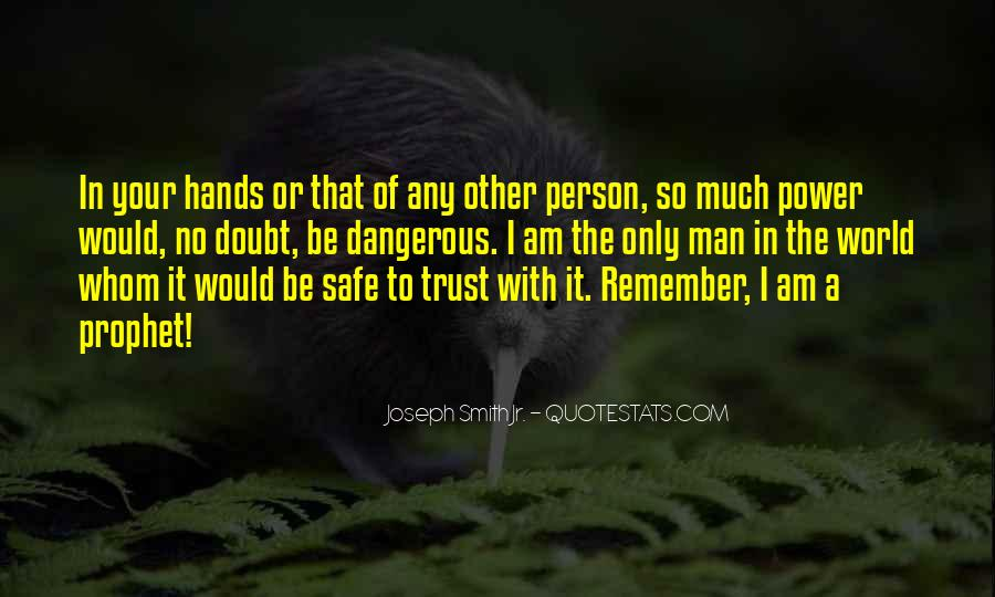 Doubt In Trust Quotes #103015