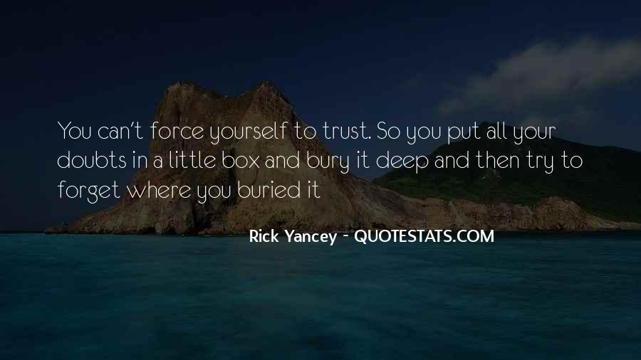 Doubt In Trust Quotes #1045430