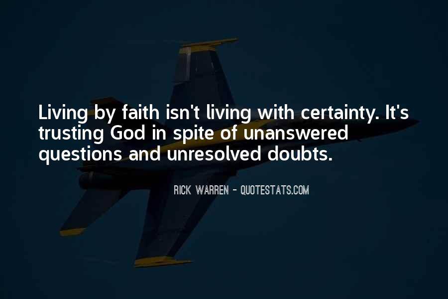 Doubt In Trust Quotes #1470778